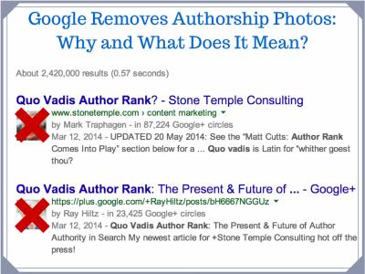 Google elimina authorship e1405063175714 Las fotos de autor desaparecen de los resultados de Google
