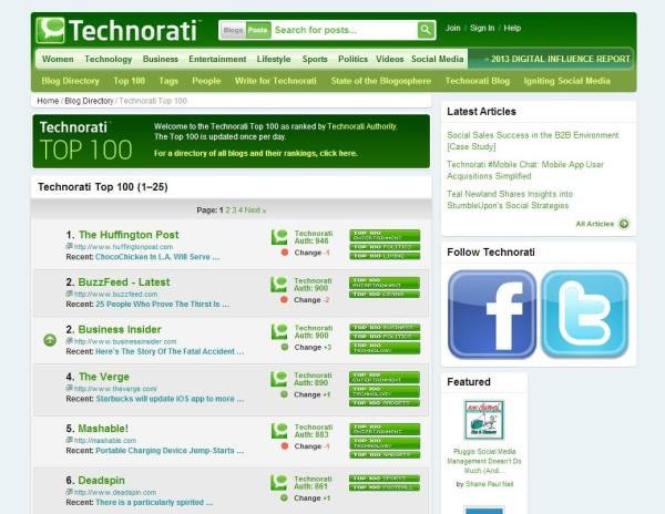 Technorati Technorati se despide como herramienta para blogs